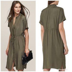Reiss Isabeli Drawstring-waist Shirtdress Sz US 2